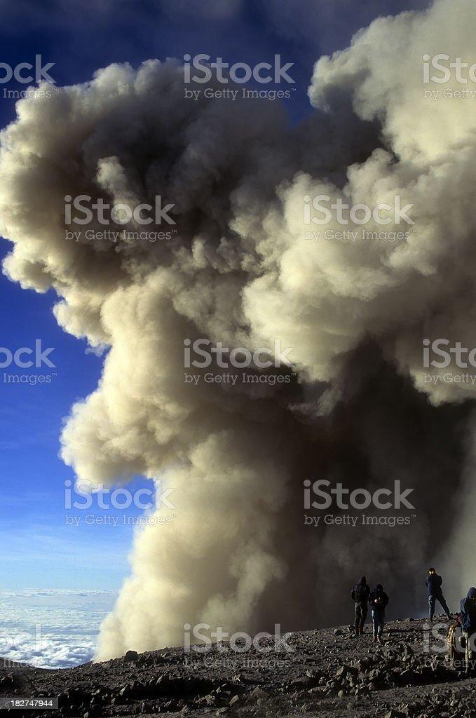 Top of the Semeru volcano stock photo
