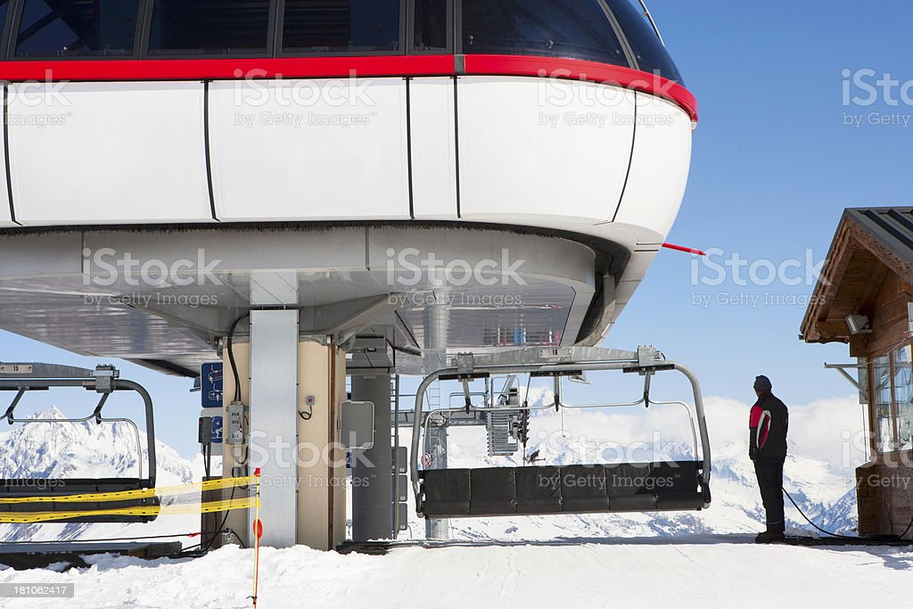 Top of the Ski Lift royalty-free stock photo