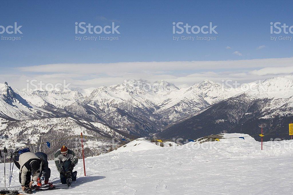 Top of the Ski lift stock photo