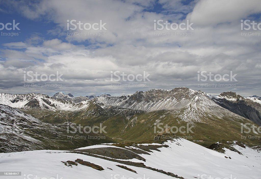Top of the Stelvio Pass royalty-free stock photo