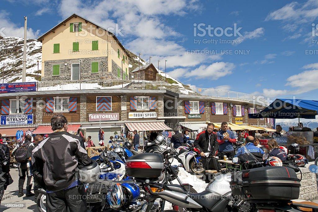 Top of the Stelvio Pass, Stilfser Joch stock photo
