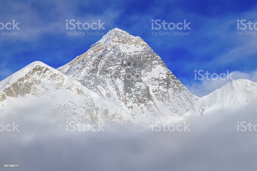 Top of the world 52MPix XXXXL- Mount Everest panoramic view royalty-free stock photo