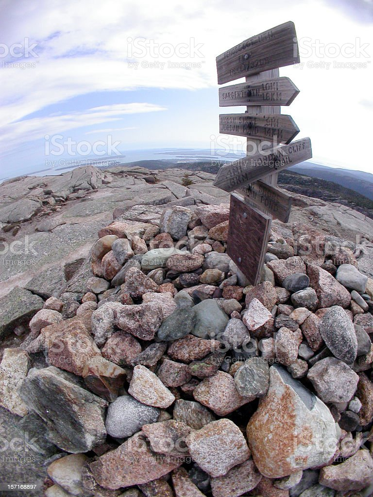 Top of the world fisheye royalty-free stock photo