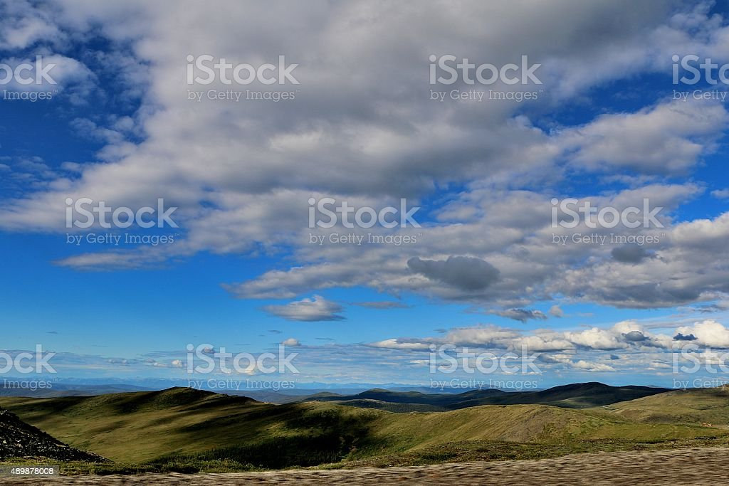 Top of The World Highway stock photo