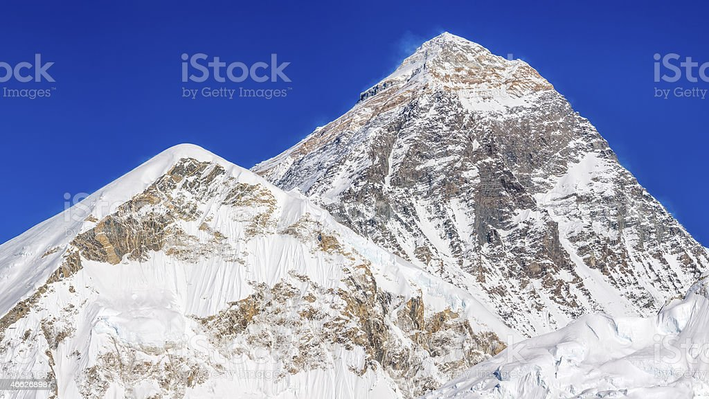 Top of the world - Mount Everest panoramic view 60MPix royalty-free stock photo