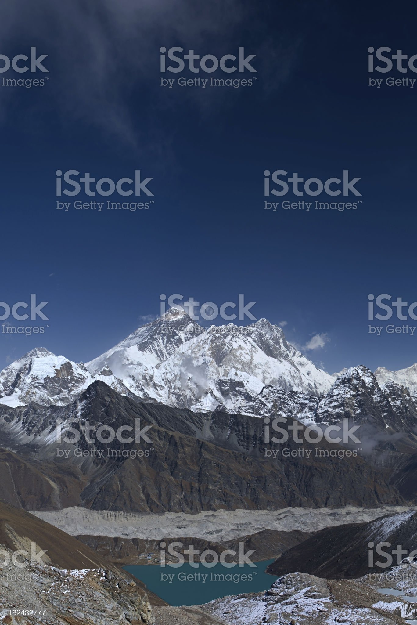 Top of the world - Mount Everest royalty-free stock photo