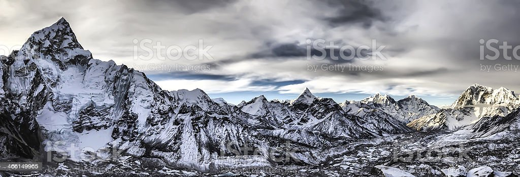 Top of the World,Nepal stock photo