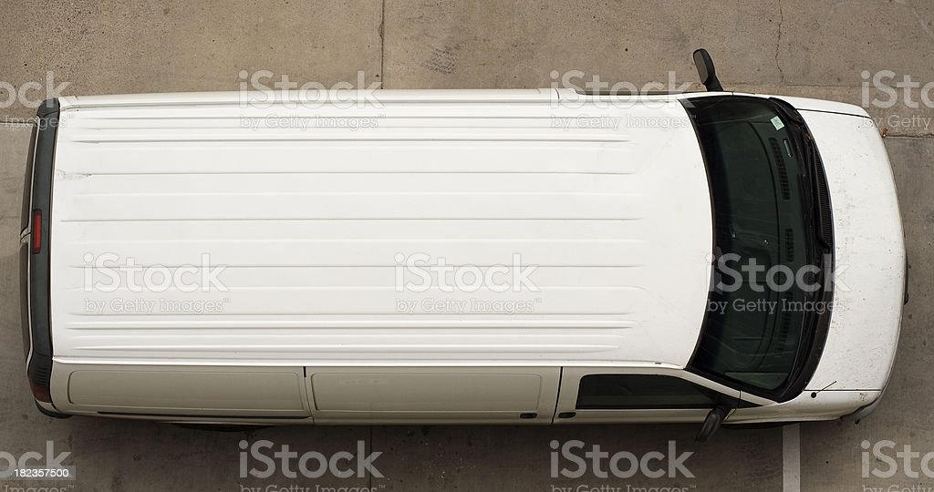 Top of White Van royalty-free stock photo