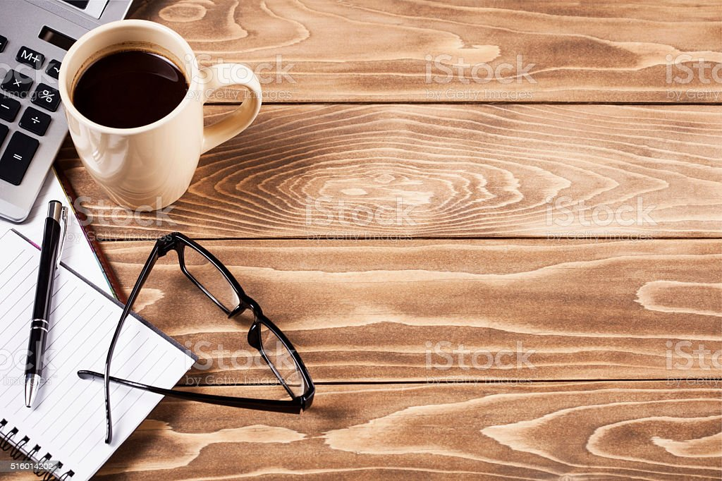 Top office table stock photo