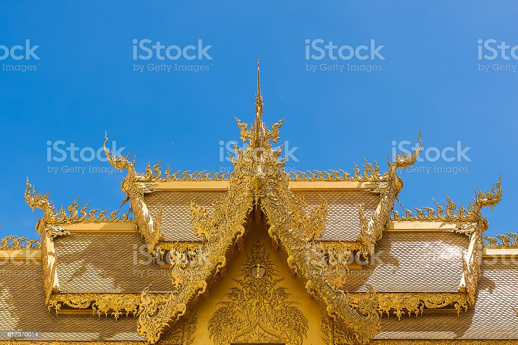 Top part of Thai style architecture stock photo