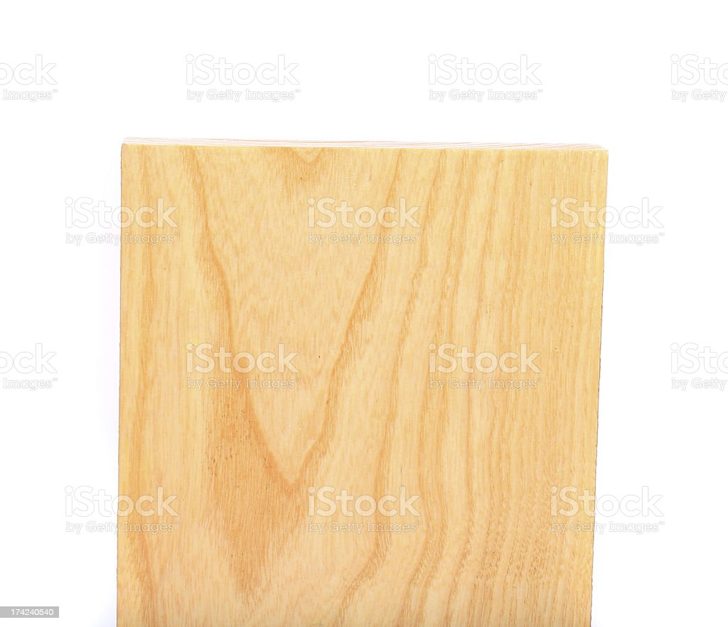 top plank of elm close-up on the white background royalty-free stock photo