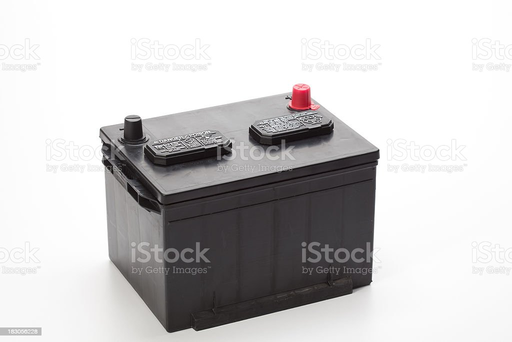 Top Post Car Battery royalty-free stock photo