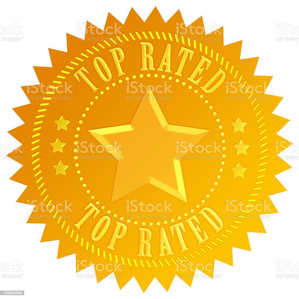 Top rated gold emblem stock photo