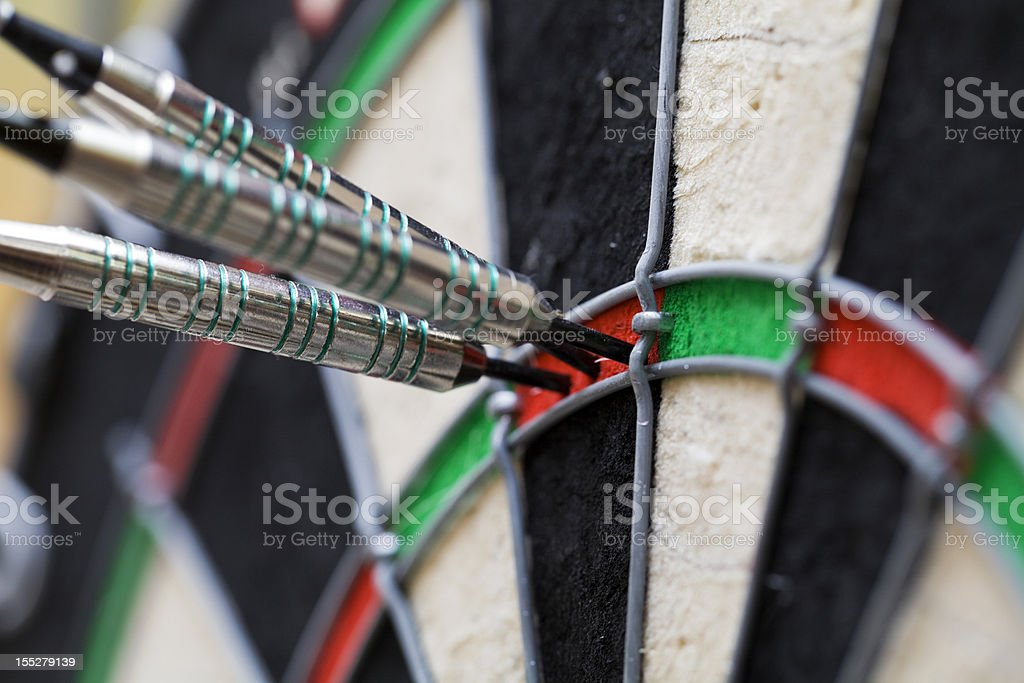 Top Score in Darts - 180 Points royalty-free stock photo