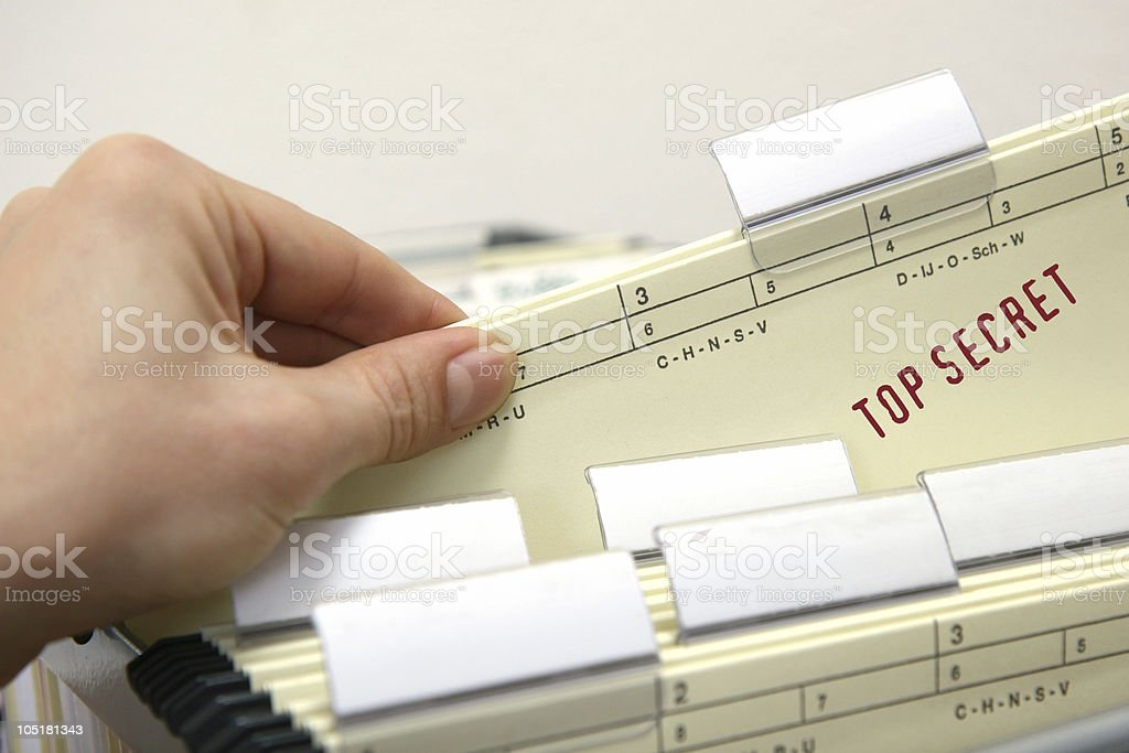 Top secret and confidential! royalty-free stock photo