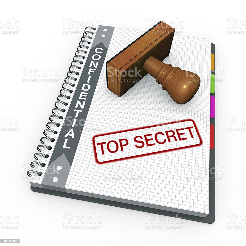 Top secret as concept stock photo