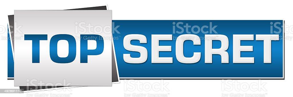 Top Secret Blue Grey Horizontal stock photo