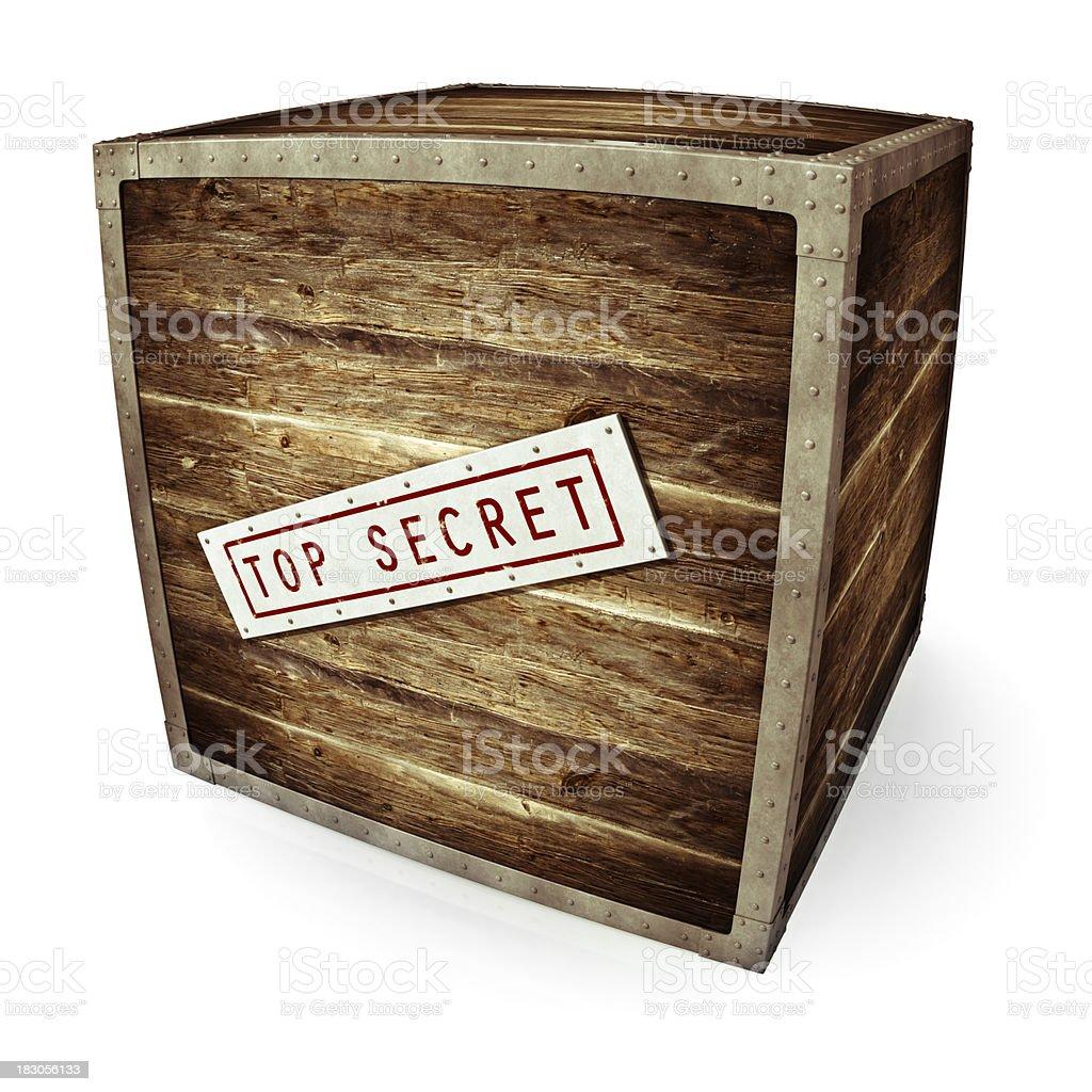 Top Secret Box royalty-free stock photo
