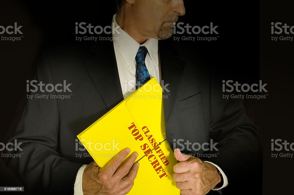 Top Secret Classified business and government concept stock photo
