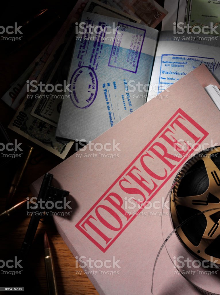 Top Secret Document in a Office royalty-free stock photo