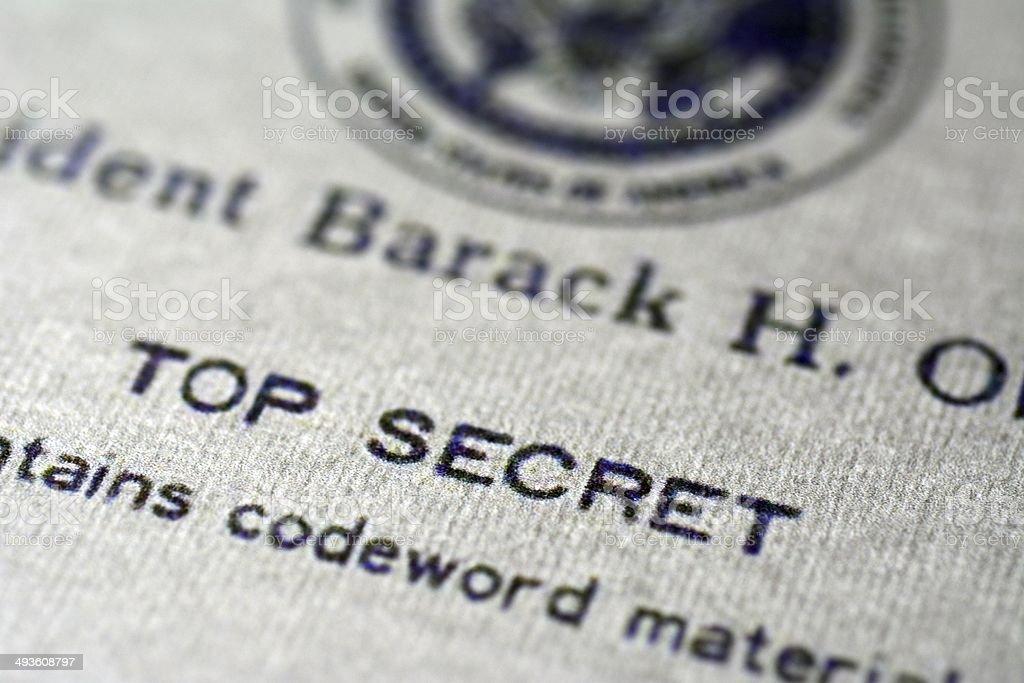 Top secret document stock photo