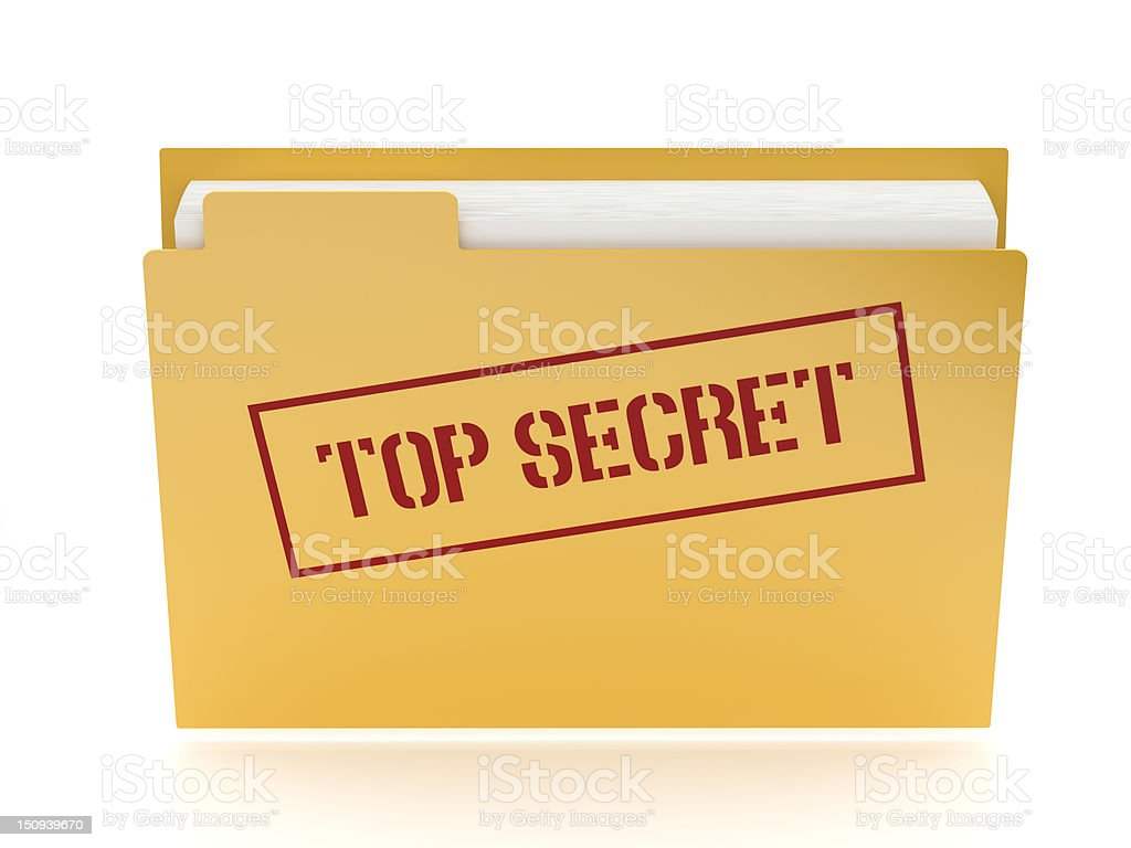 Top secret folder with path royalty-free stock photo