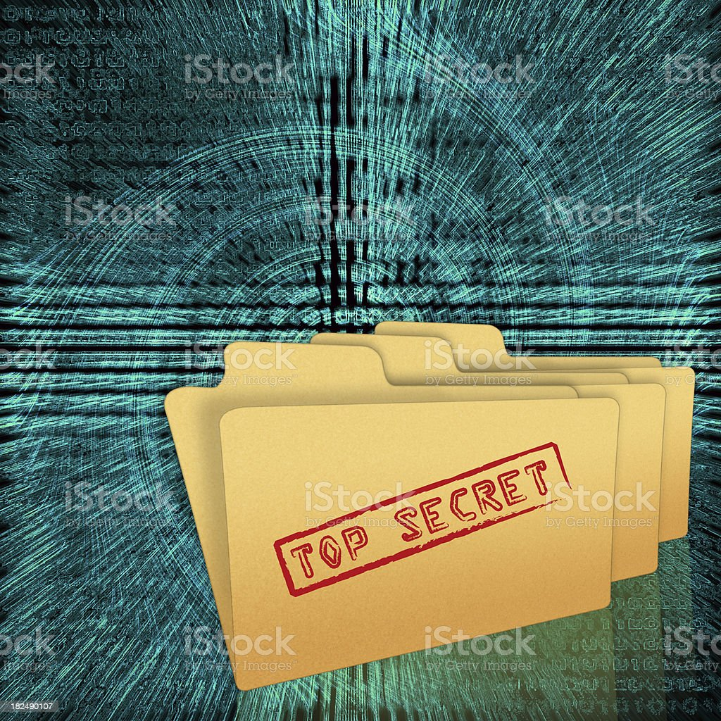 Top Secret Folders royalty-free stock photo