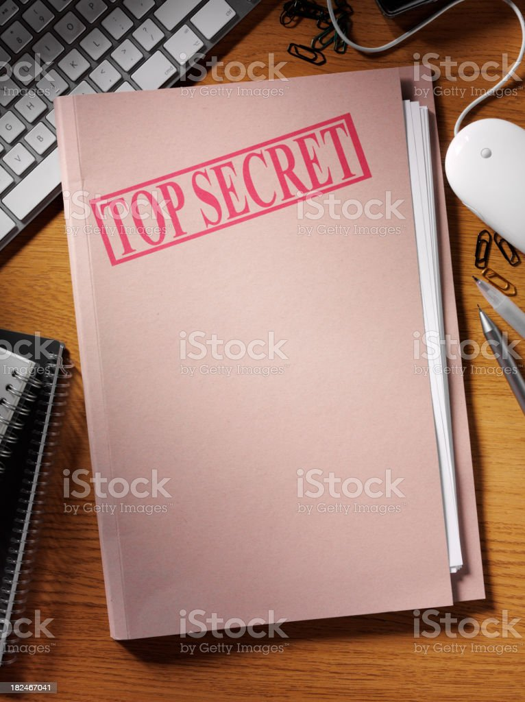 Top Secret Office Document royalty-free stock photo