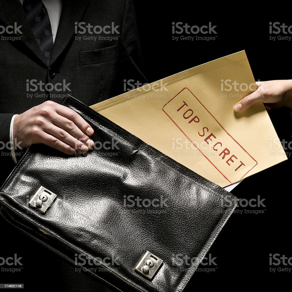 Top Secret stock photo