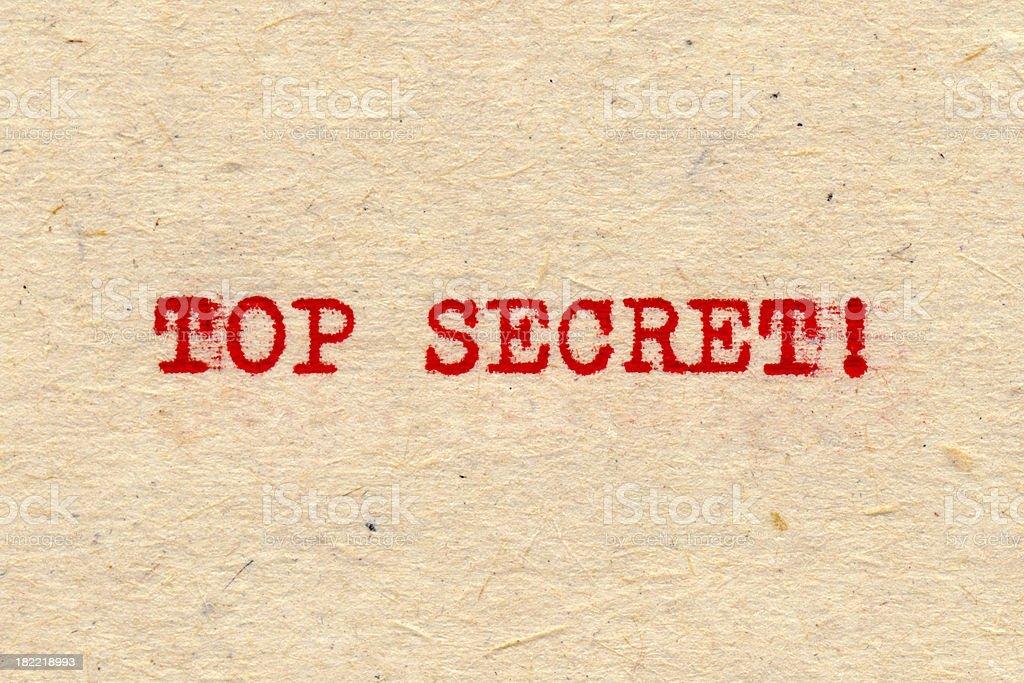 Top Secret! royalty-free stock photo