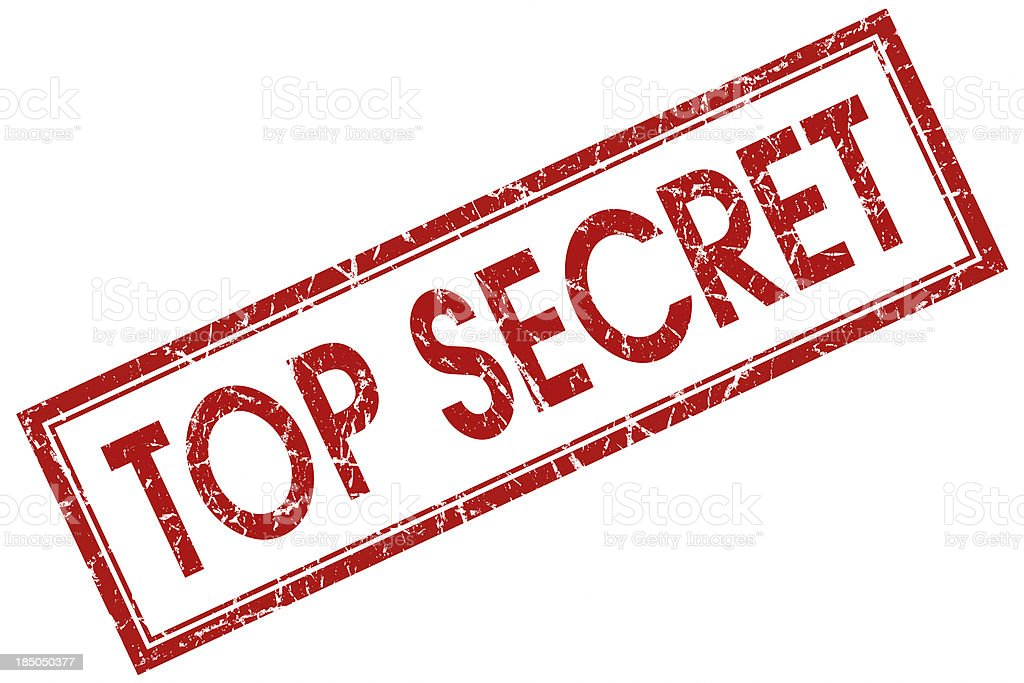 top secret red square stamp stock photo