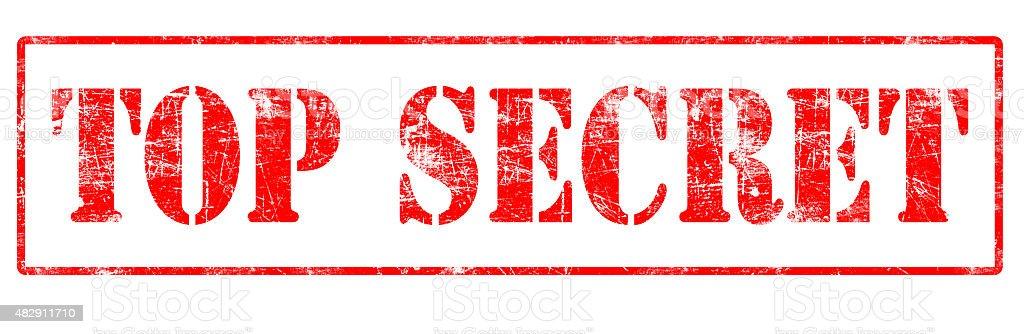 Top Secret - Rubber Stamp stock photo