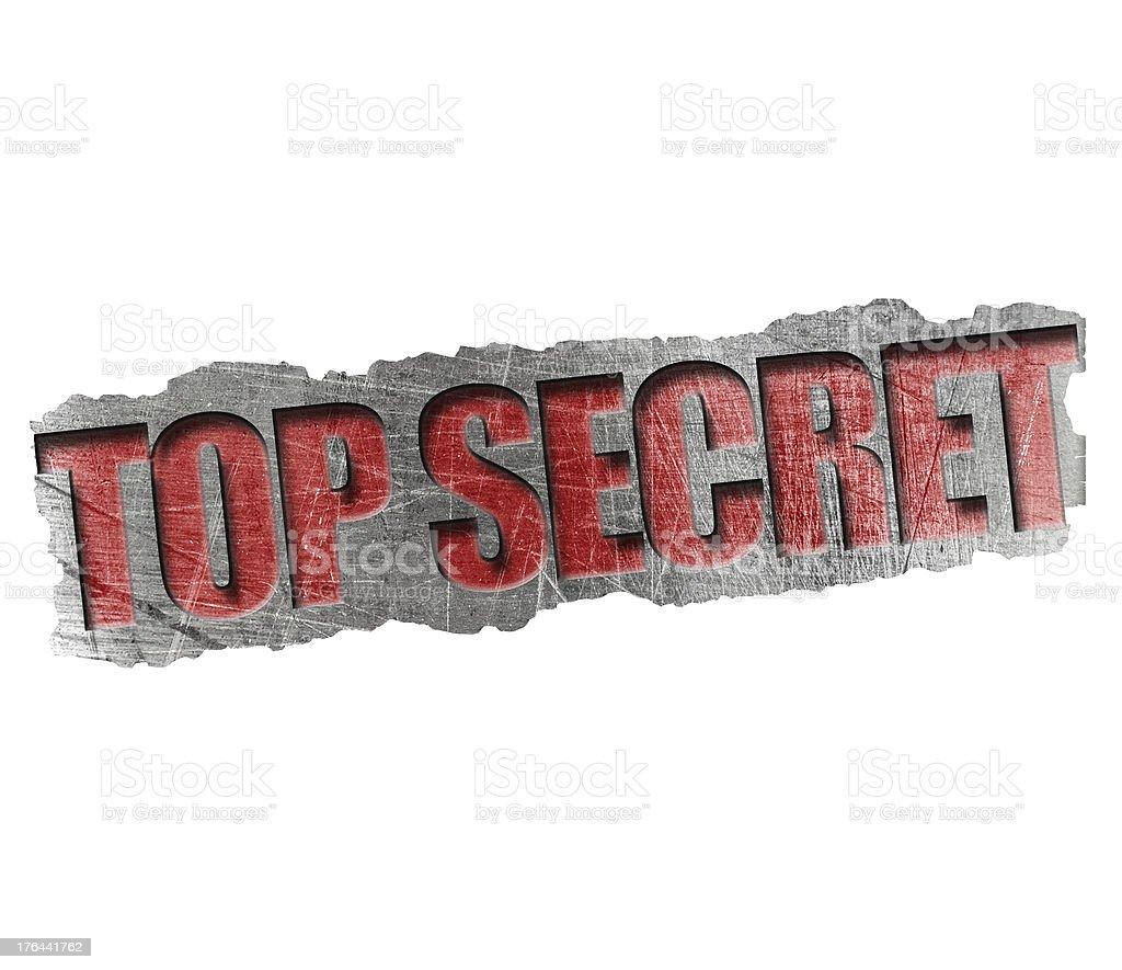Top secret stamp royalty-free stock photo
