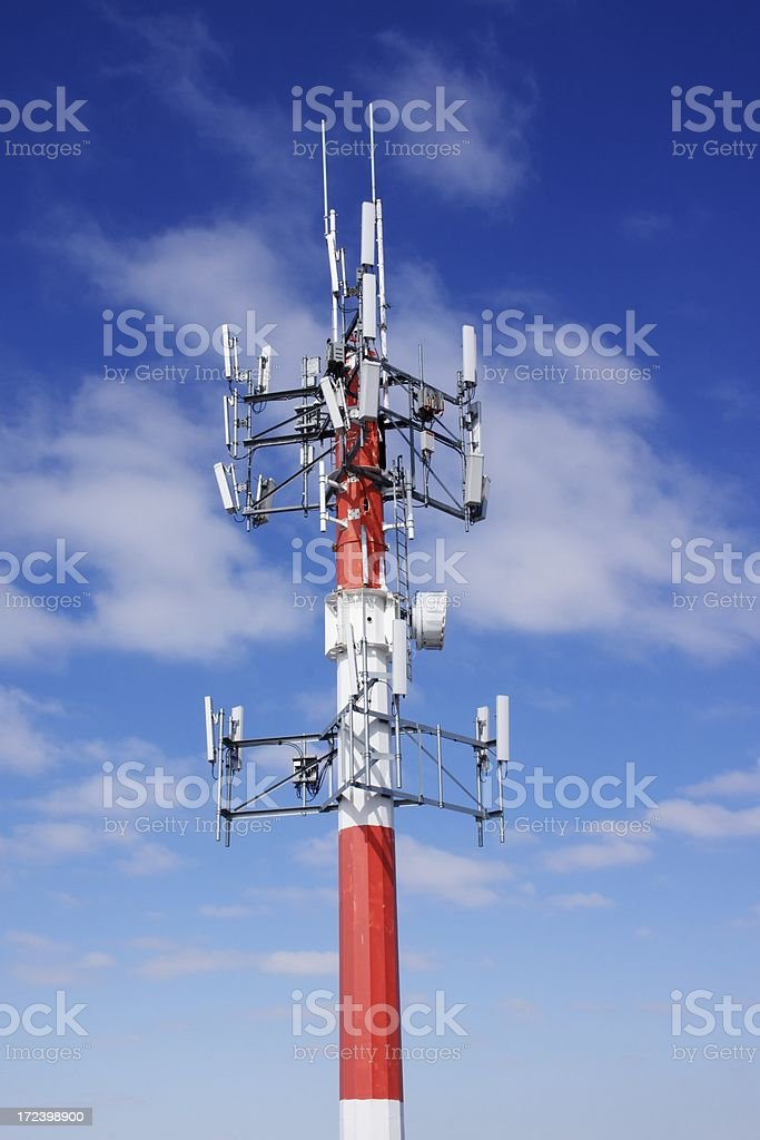 Top section of Communications Tower stock photo