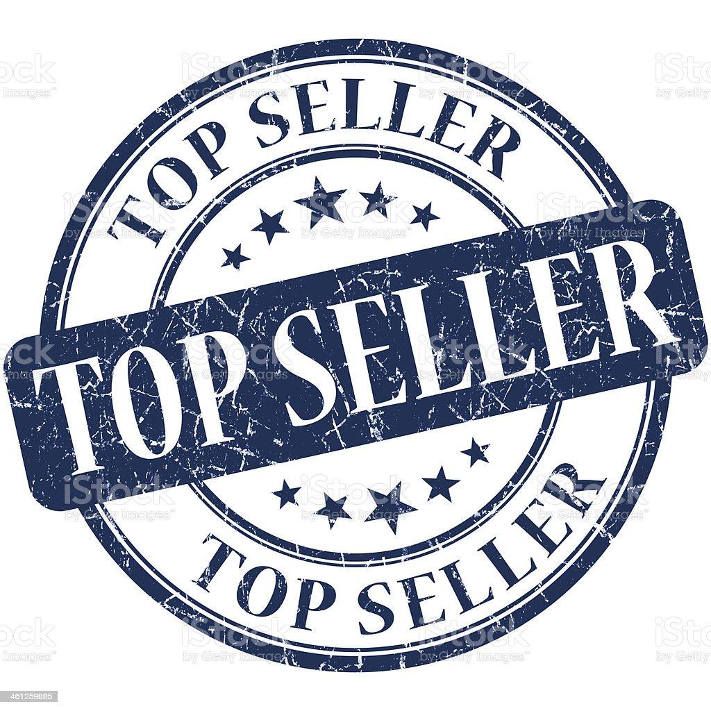 Top seller grunge round blue stamp stock photo