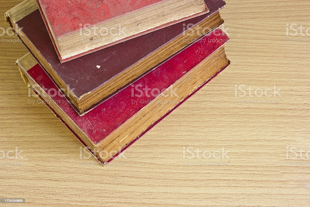 top shot stack of old book pages texture royalty-free stock photo