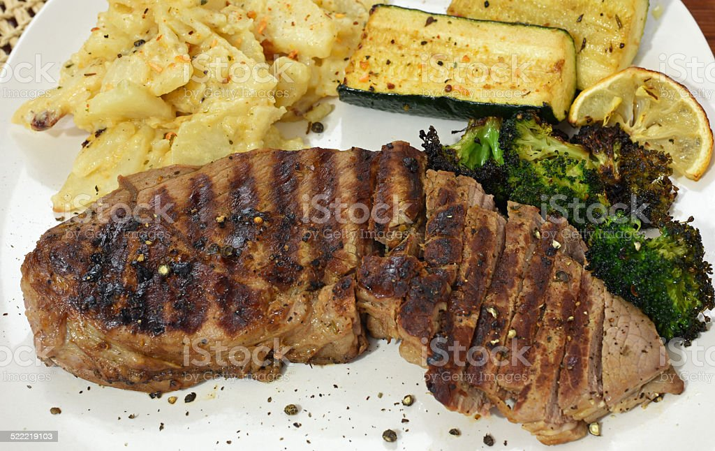 Top Sirloin Steak Dinner royalty-free stock photo