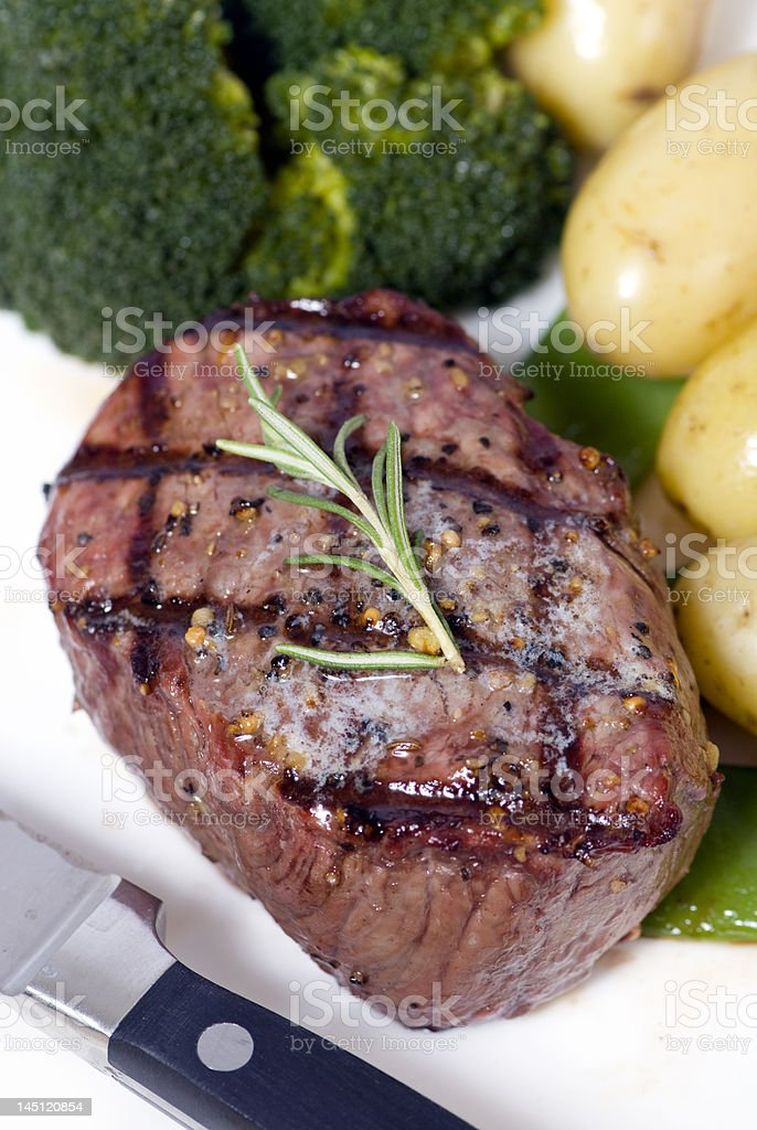 Top Sirloin Steak stock photo