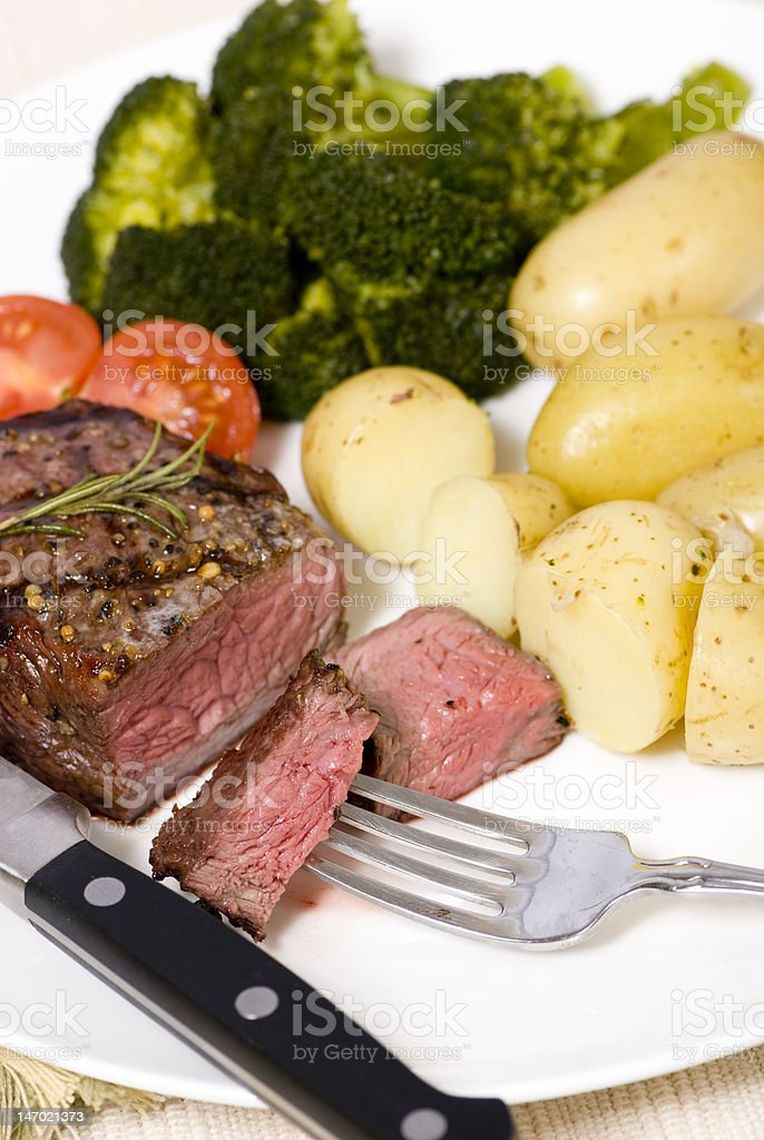 Top Sirloin Steak stock photo