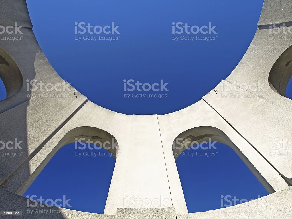 Top Sky of Coit Tower royalty-free stock photo