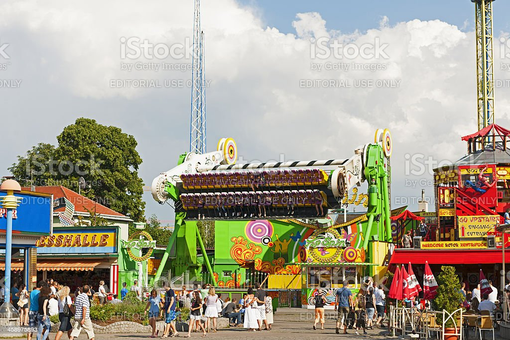 Top spin amusement ride royalty-free stock photo