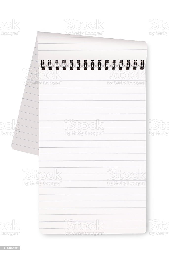 Top spiral lined notepad with page turning royalty-free stock photo