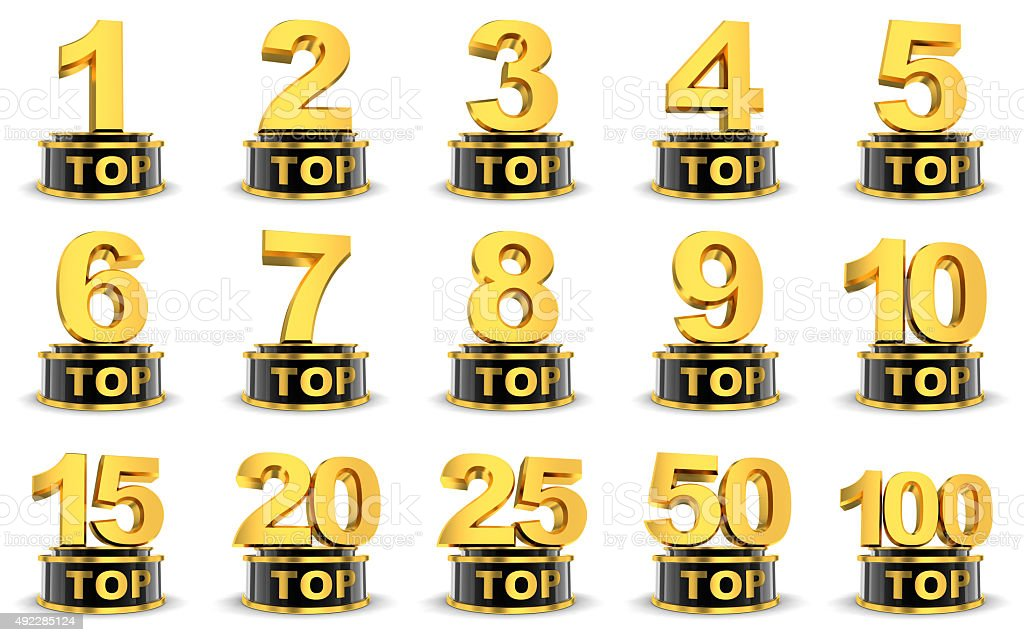 Top symbols stock photo