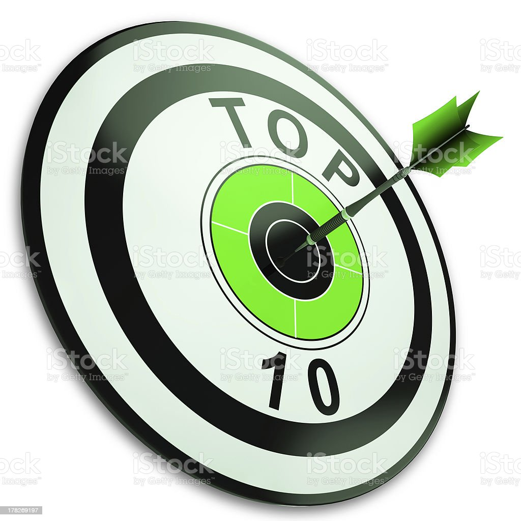 Top Ten Button Shows Best Rated royalty-free stock photo