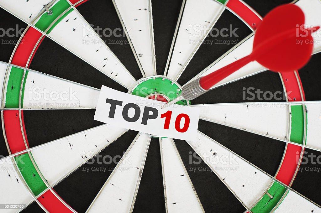Top ten concept stock photo