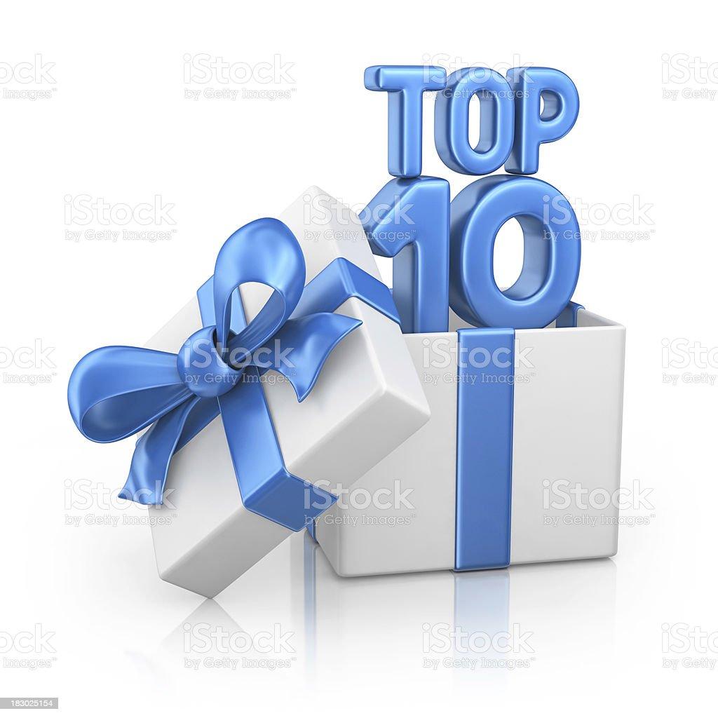 top ten gift box stock photo