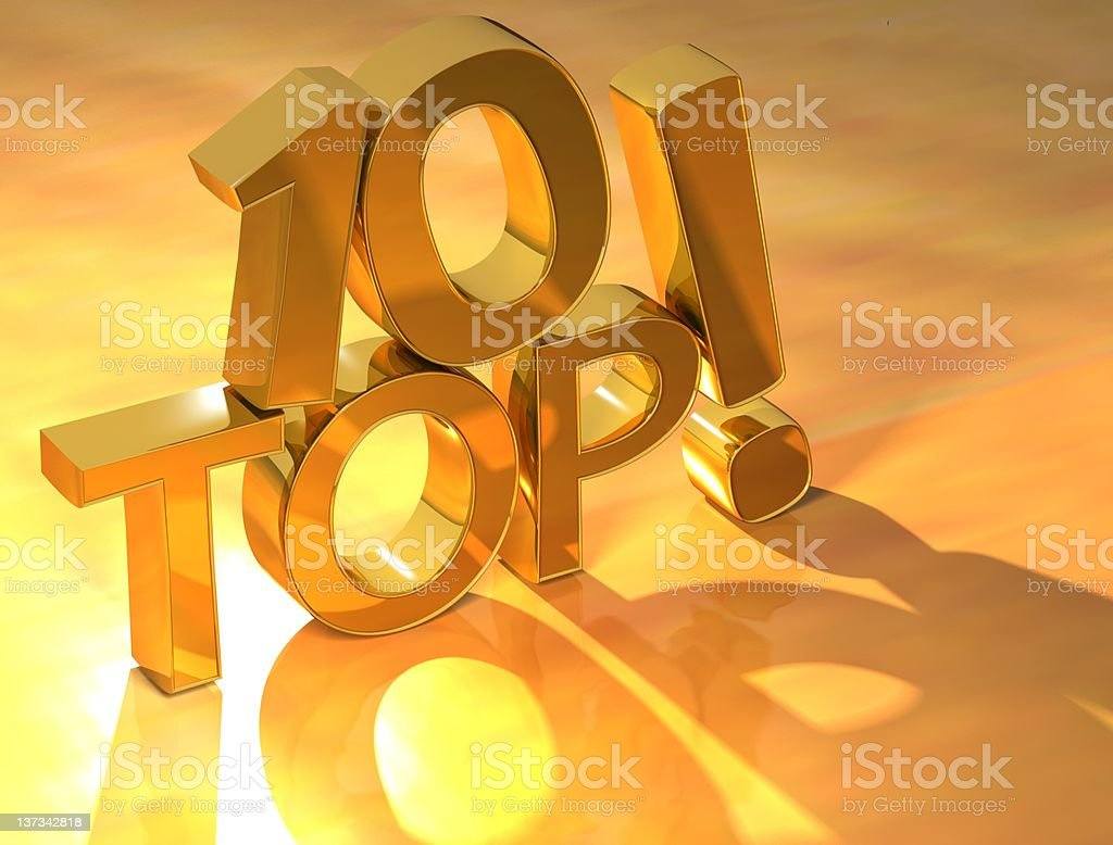 Top Ten gold text royalty-free stock photo