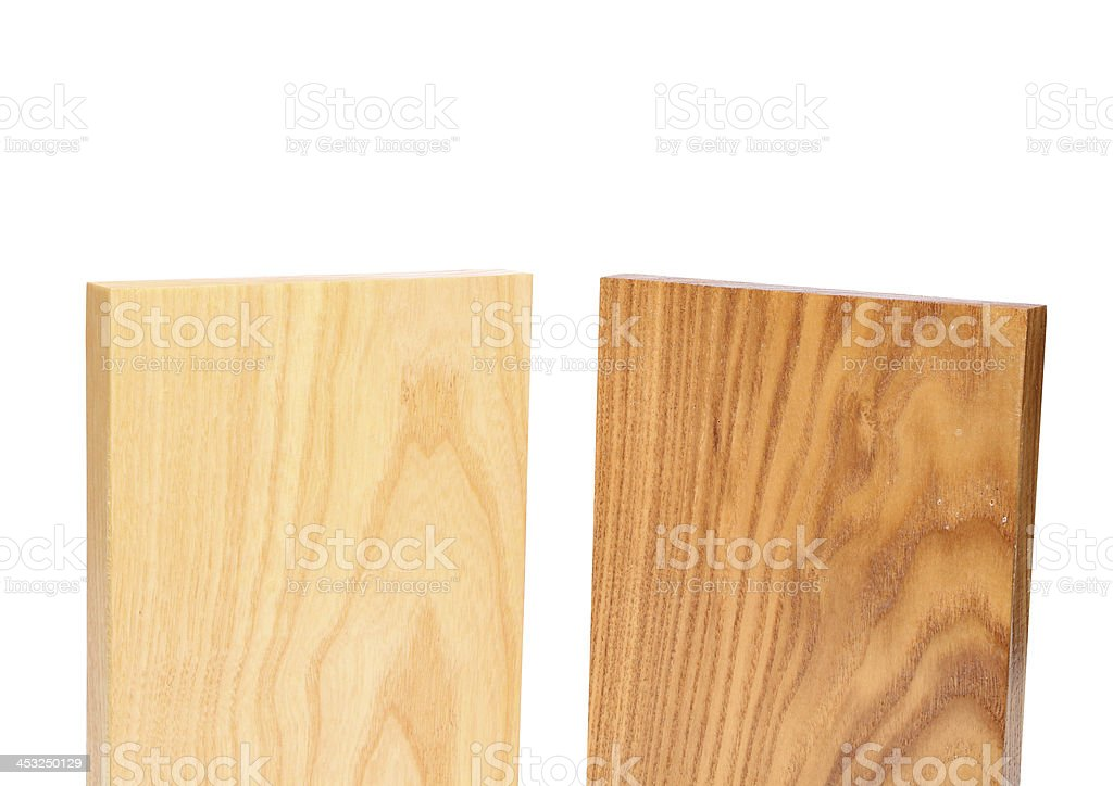 Top two wooden plank close-up royalty-free stock photo