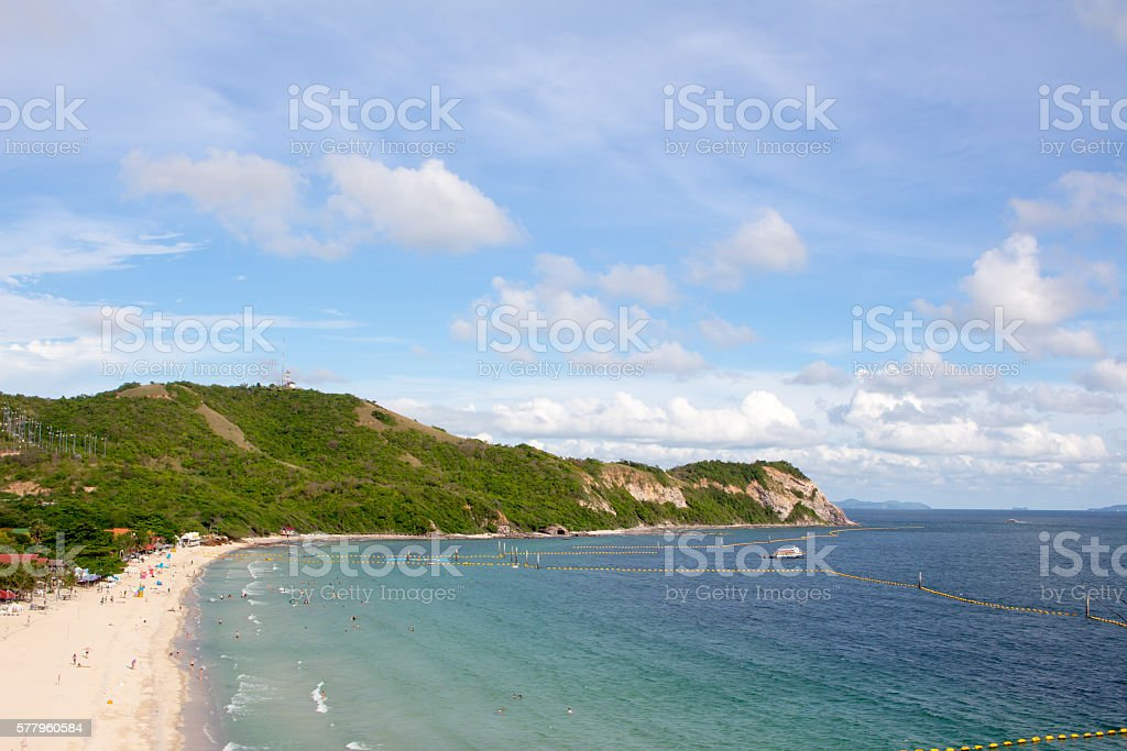 top view beautiful sea and island stock photo