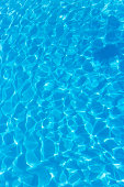top view blue water caustics background